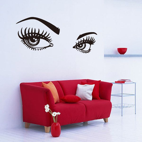 130*57CMCharming Eyes Pattern Removable Wall Stickers Room Decor