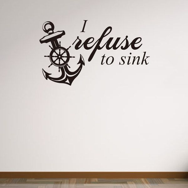 Vinyl Removable Anchor Quote Room Decor Wall Stickers