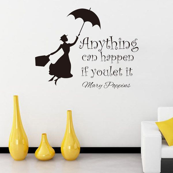 Anything Can Happen Quote Removable Room Wall Stickers