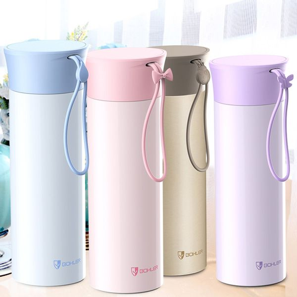 Creative 420ML Keeping Warm Lovers Gift Water Thermos Bottle