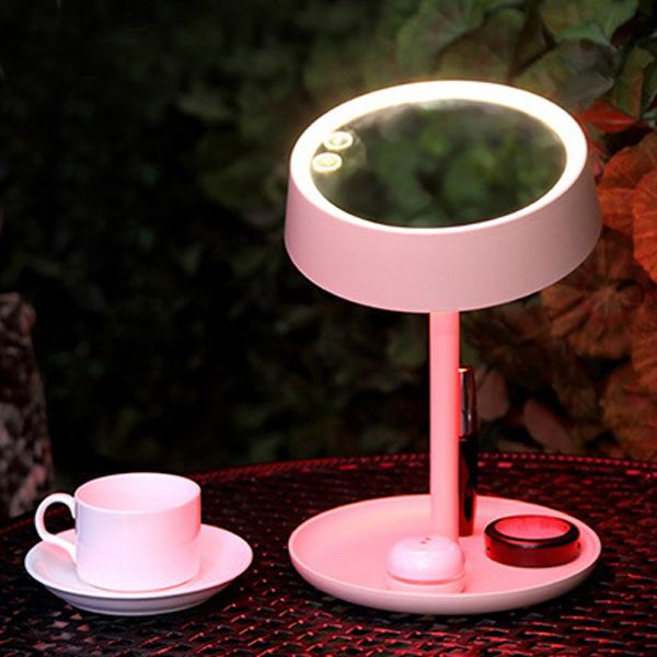 Creative Make Up Storage Eye Protection LED Mirror Lamp