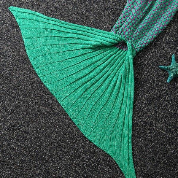 Polka Dot Design Bed Sleeping Bag Knitted Wrap Sofa Mermaid Blanket