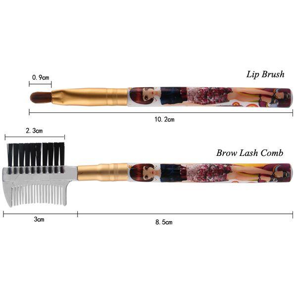 5 Pcs Nylon Makeup Brushes Set