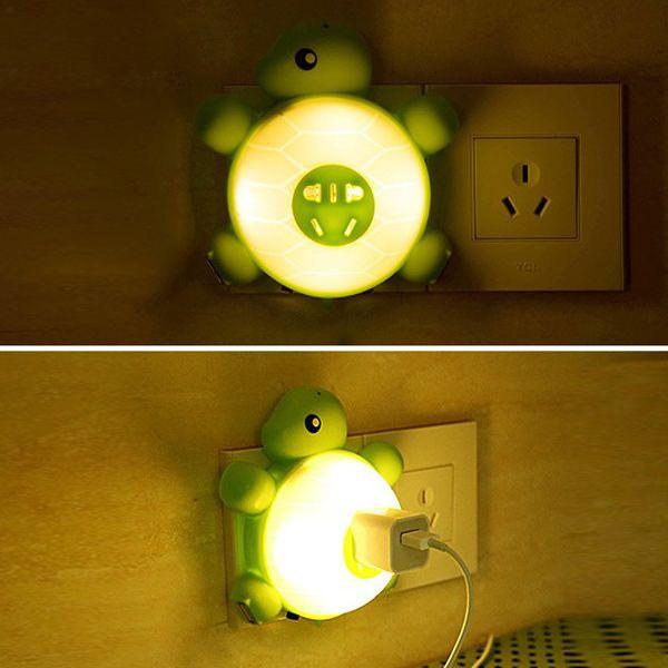 Creative Multifunctional USB Socket Turtle Night Light