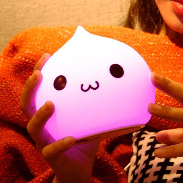 7Color Change LED Silica Gel Cartoon Charging Night Light