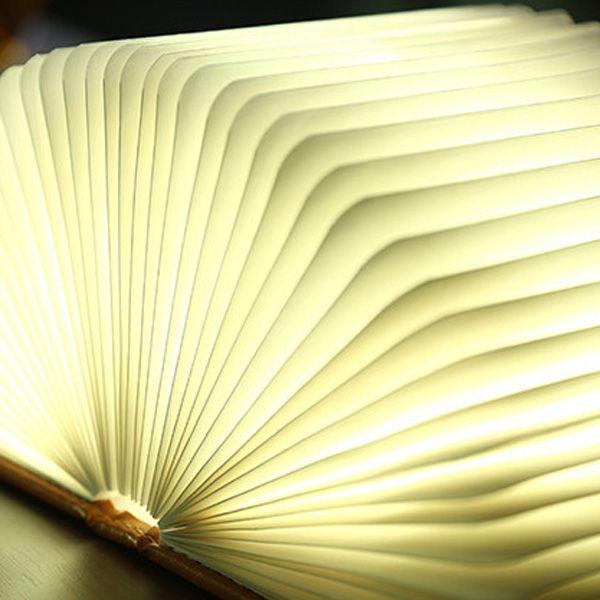 Creative 4Color Change Folding Book Table Bedside LED Night Light