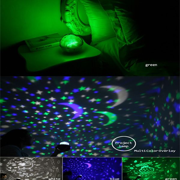 USB 360° Rotating Star Sky Projection Night Light