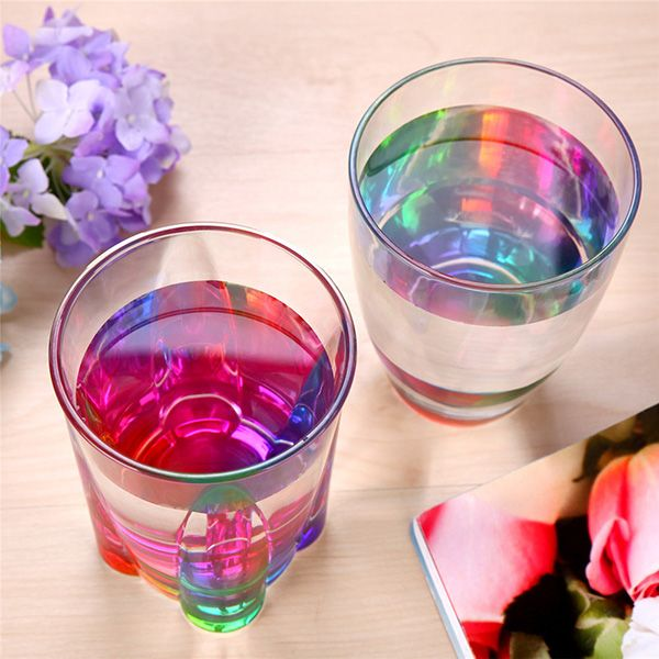 Colorful Drinkware Rainbow Refraction Glass Water Beer Mug