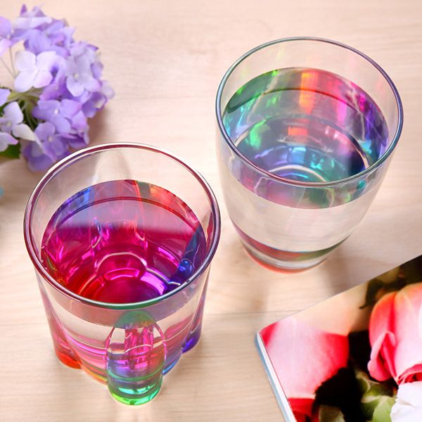 Colorful Drinkware Rainbow Refraction Glass Water Beer Mug