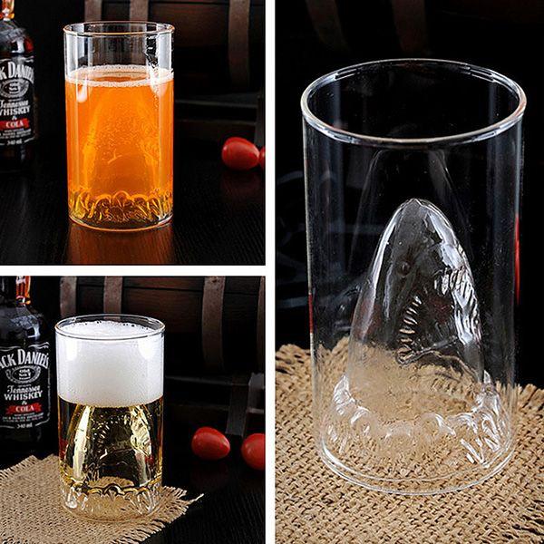 350ML Shark Lucency Glass Water Beer Mug