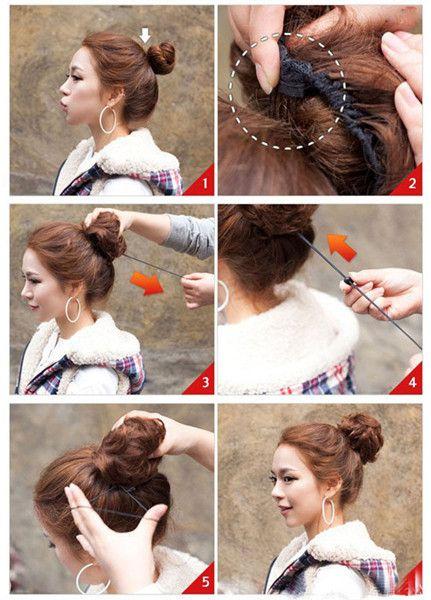 Bouffant Curly High Temperature Fiber Hair Bun