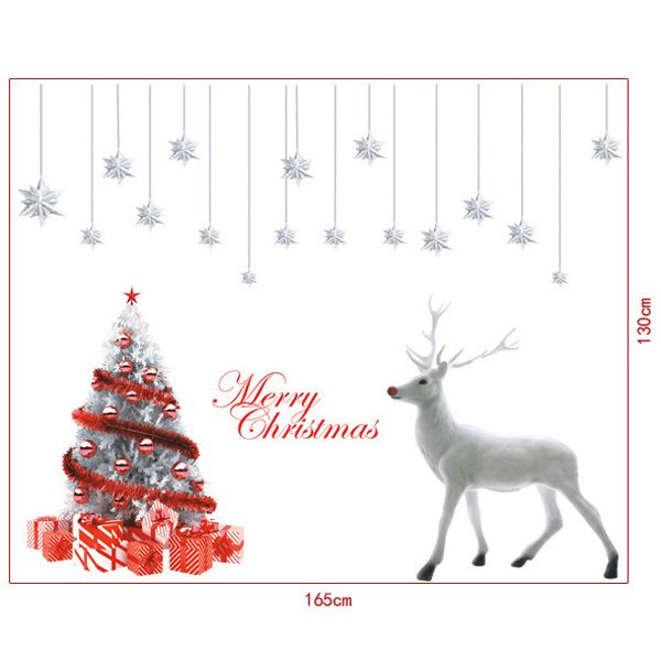 Festival Christmas Tree Removable Glass Window Wall Stickers