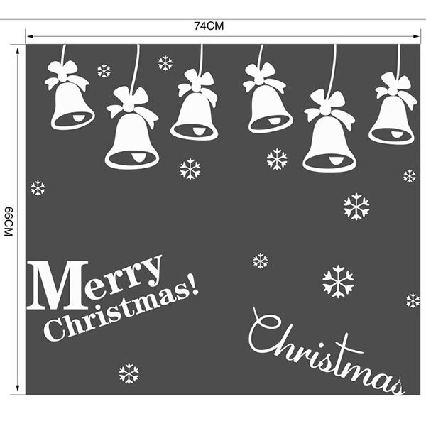 Christmas Bell Removable Glass Window Wall Stickers