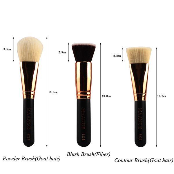 20 Pcs Goat Hair Facial Makeup Brushes Set