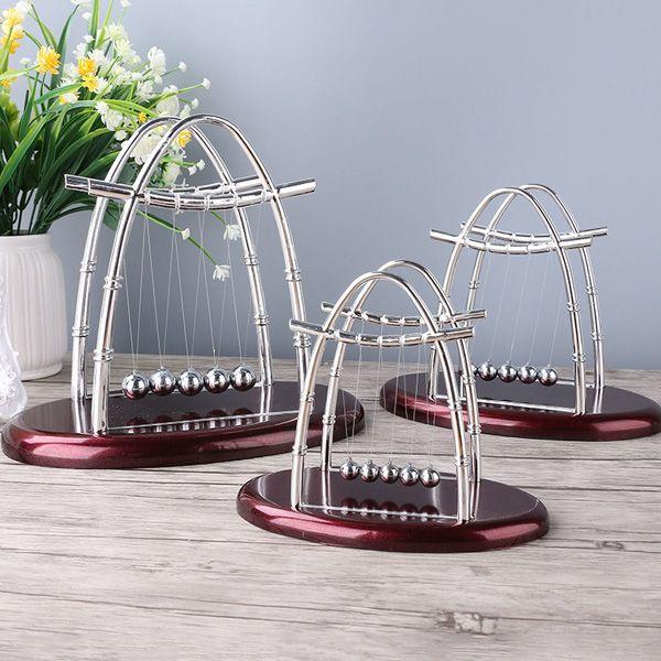 Newton Cradle Steel Balance Desk Decor Pendulum Ball