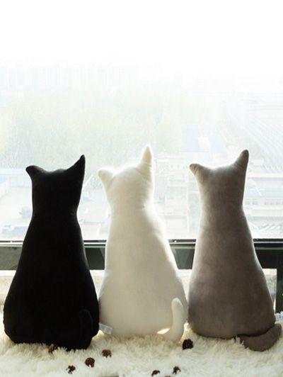 Home Decoration Cat Shape Plush Toy Pillow