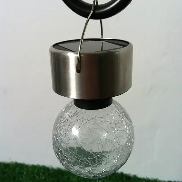 4PCS/Set Solar Power Courtyard Hanging Crack Bulb Light