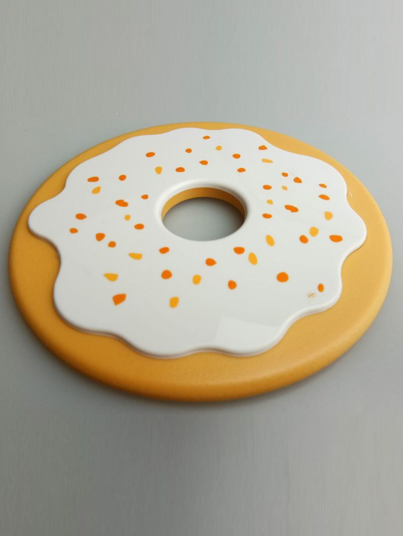 4PCS Cartoon Thermal Insulation Table Doughnut Coasters
