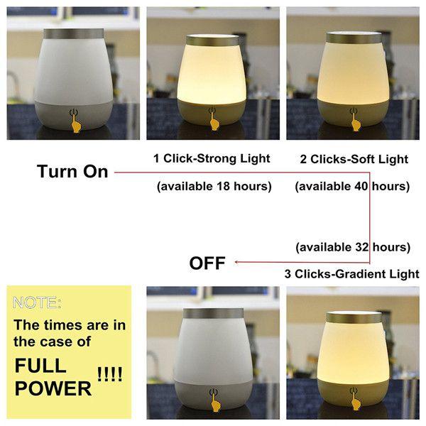 Dual Purpose Bedside LED Flower Vase Lamp