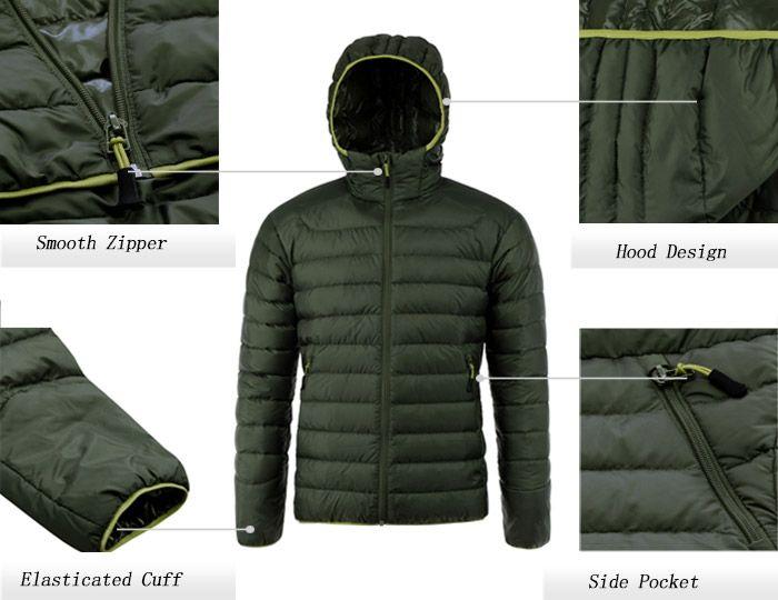 Zip Up Hooded Down Jacket ODM Designer