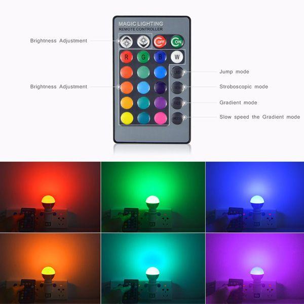 Energy Saving Colorful E27 Romote Control LED Bulb Light