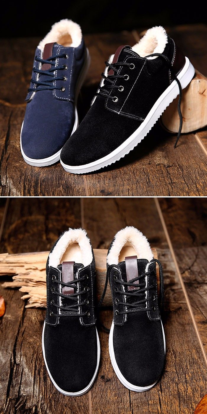 Suede Warm Lining Skate Shoes