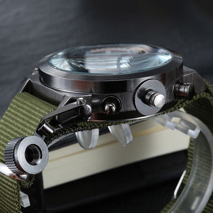 GIMTO Outdoor Canvas Analog Digital Watch