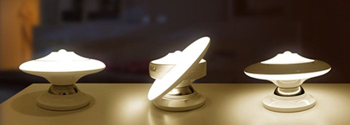 Rotating Body Sensor UFO LED Night Light