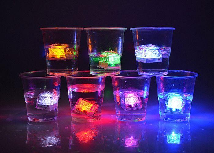 Creative LED Light Up Flashing Ice Cube