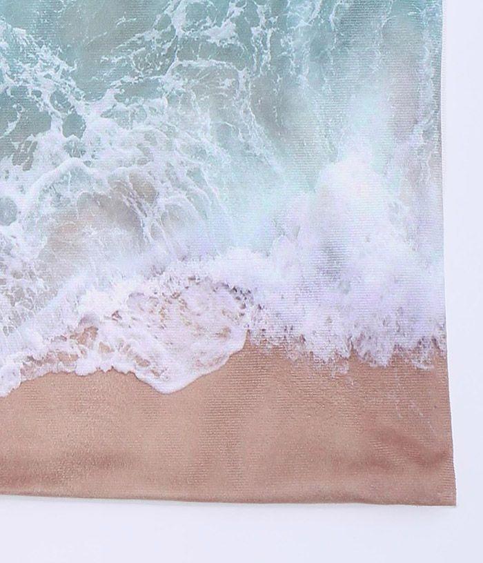 Seawater Print Short Plush Square Pillow Case