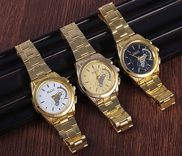 Stainless Steel Strap Analog Wrist Watch