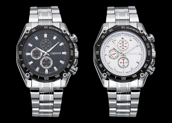 CHENXI Stainless Steel Tachymeter Analog Watch