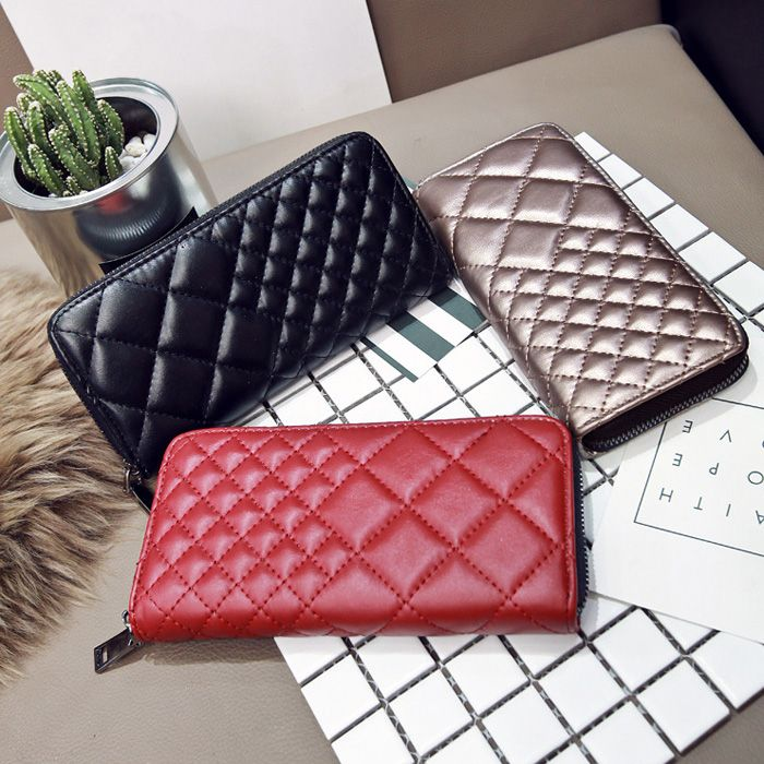 Zipper Around Quilted Clutch Wallet