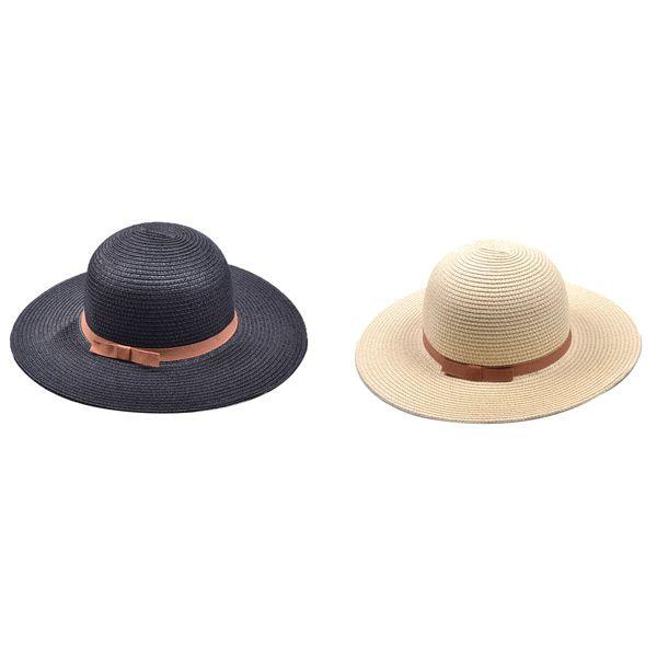 Bow Band Cloche Sun Straw Hat