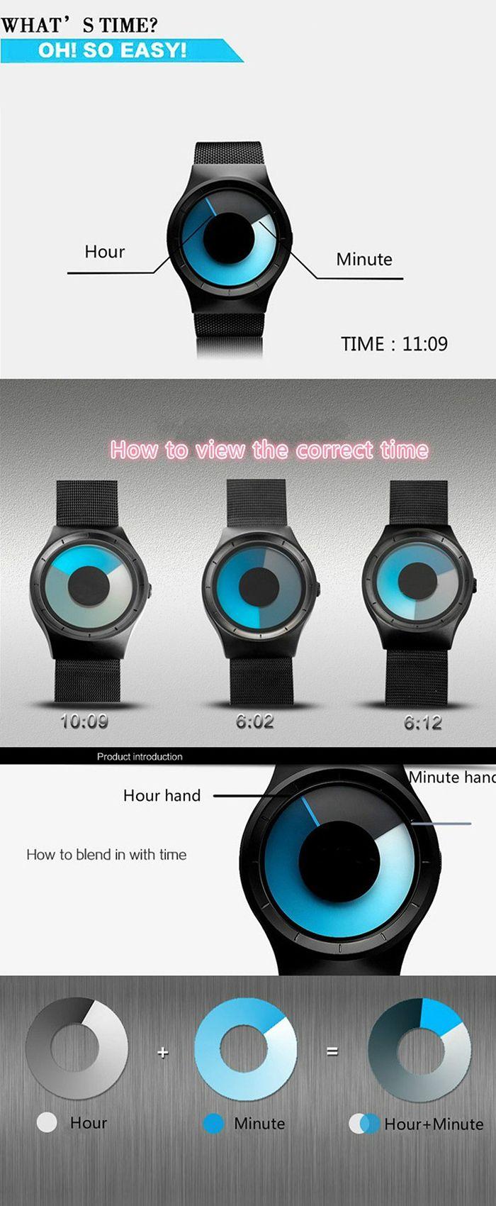 Alloy Strap Vortex Ombre Quartz Watch