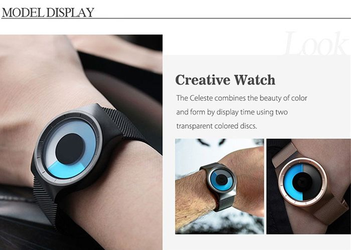 Alloy Strap Vortex Ombre Quartz Watch