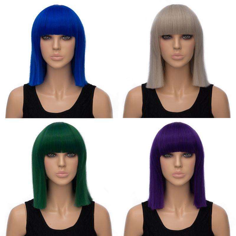 Adiors Medium Neat Bang Straight Bob Synthetic Wig