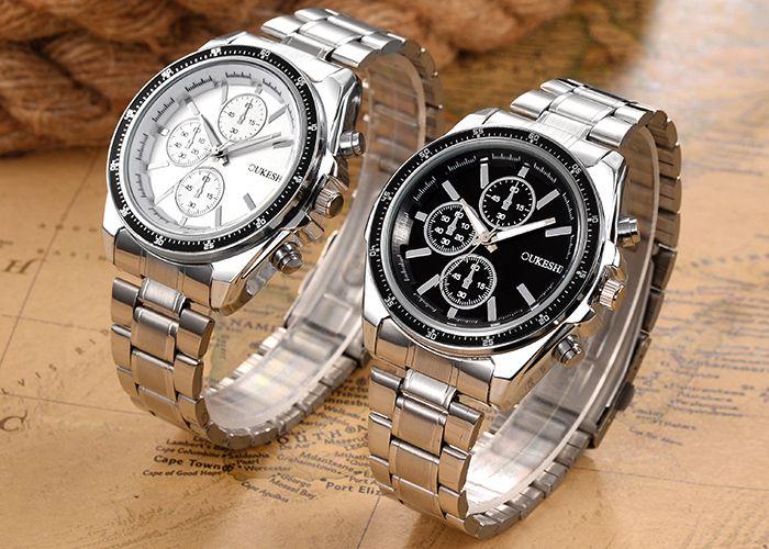 OUKESHI Alloy Strap Wrist Watch