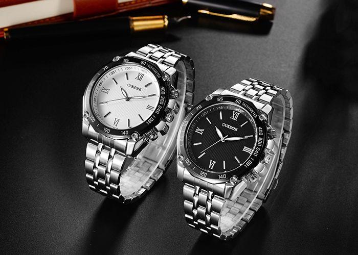OUKESHI Tachymeter Roman Numeral Quartz Watch