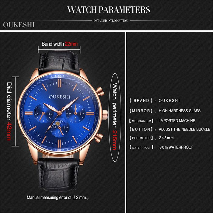 Faux Leather Wrist Quartz Watch