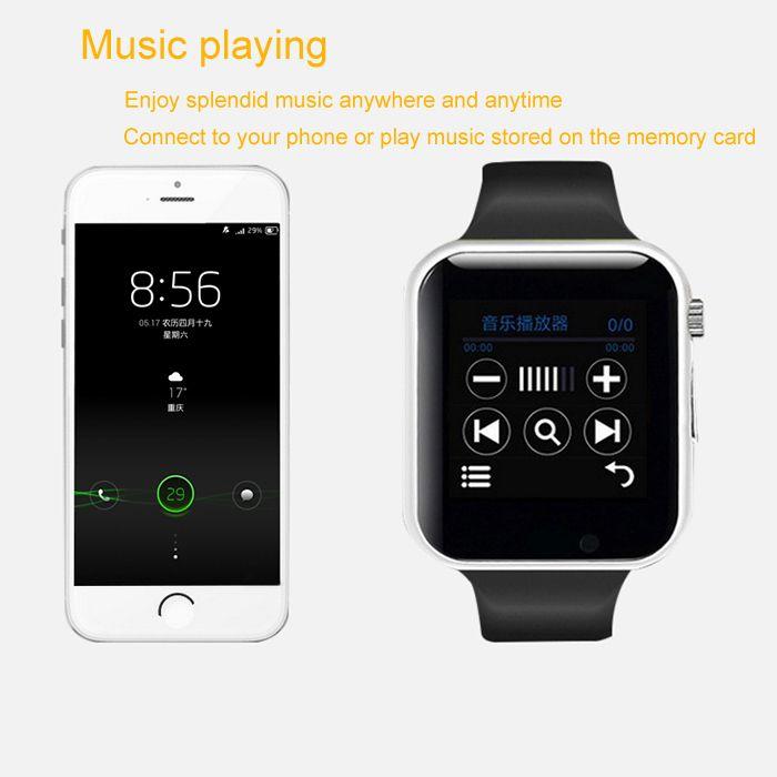 A1 Bluetooth Smart Watch Phone with Pedometer Camera Single SIM