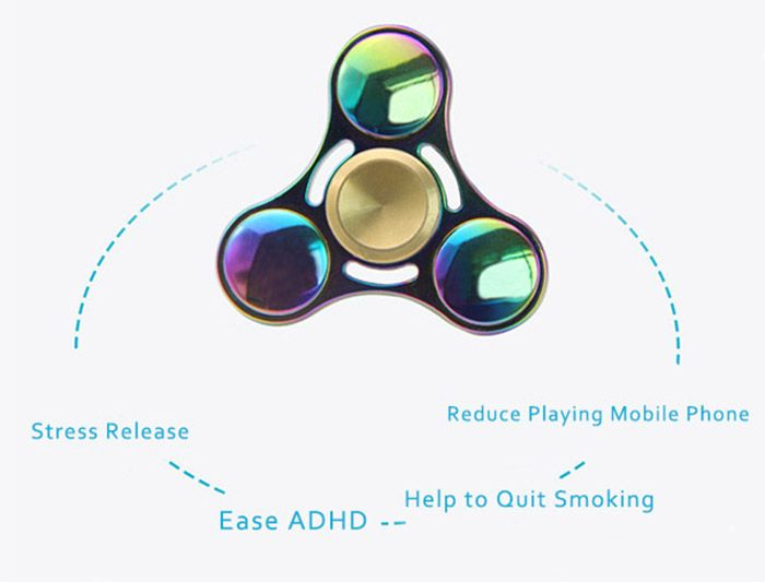 Stress Relief Toy Rainbow Gyro Triangle Fidget Finger Spinner