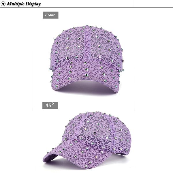 Hot Drilling Lace Hollow Out Mesh Hat