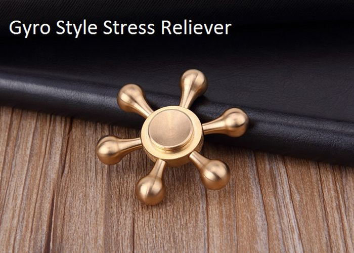Stress Relief Toy Metal Rudder Fidget Spinner