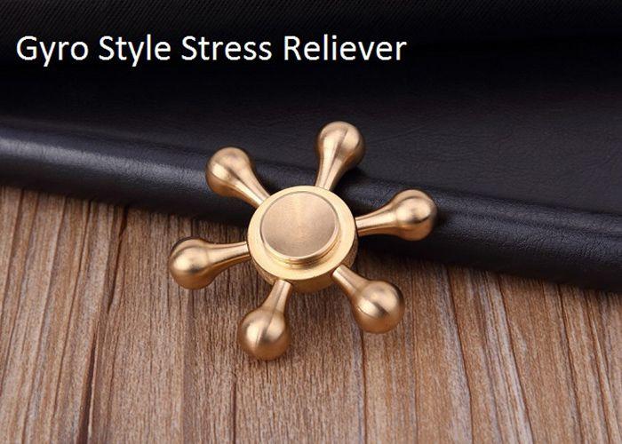 Stress Relief Toy Metal Rudder Fidget Spinner