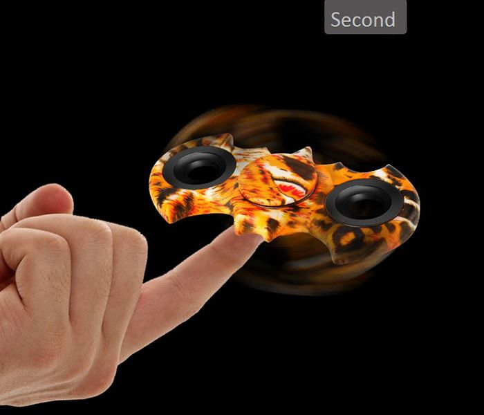 Stress Relief Toy Bat Patterned Fidget Spinner
