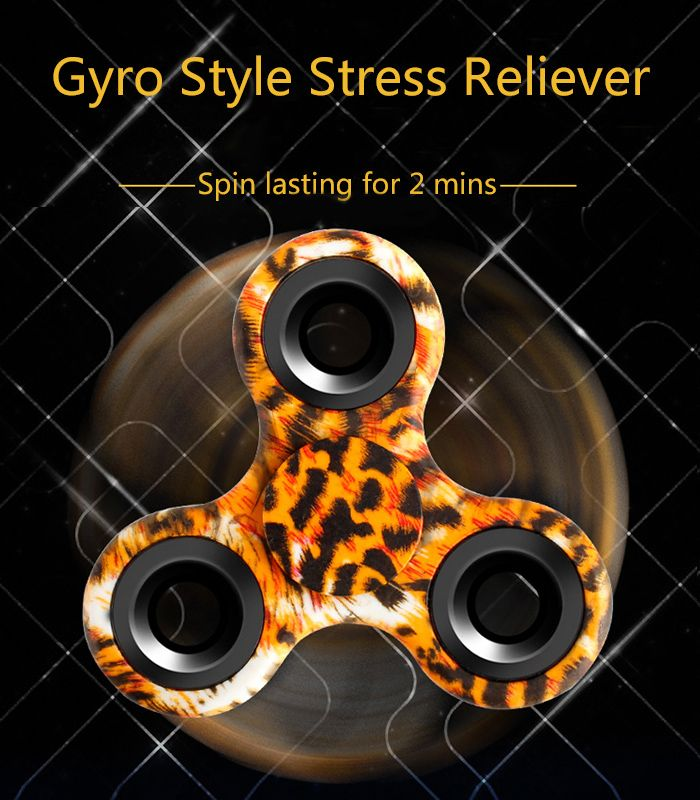 Stress Relief Toy Triangle Patterned Fidget Spinner
