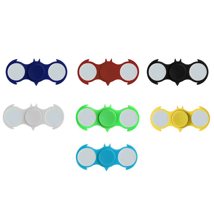 Fiddle Toy Colorful Flashing LED Lights Bat Fidget Spinner