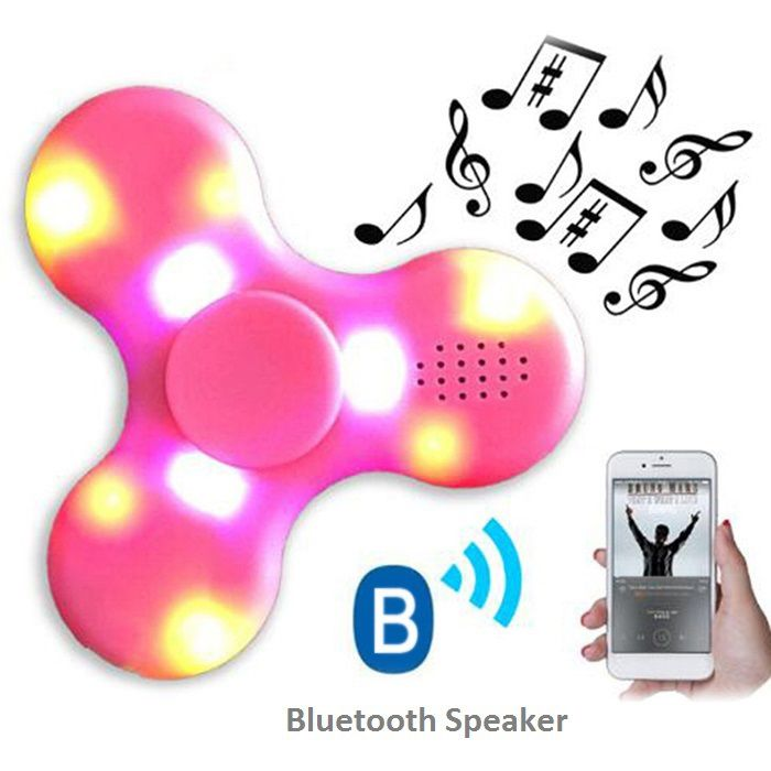 Fidget Spinner with LED Lights USB Charging Bluetooth Speaker