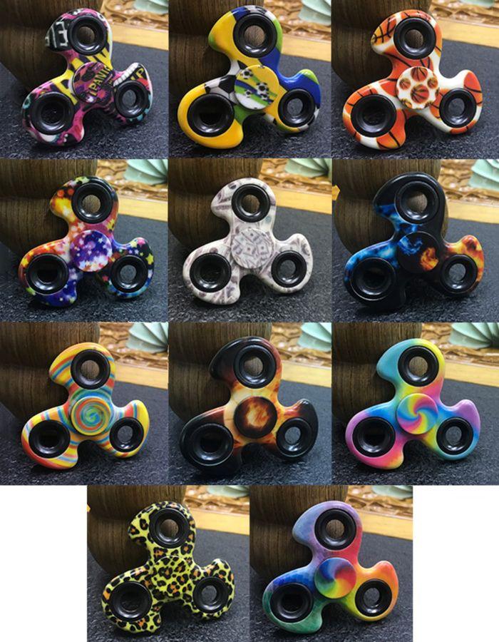 Stress Reliver EDC Fiddle Toy Patterned Fidget Spinner